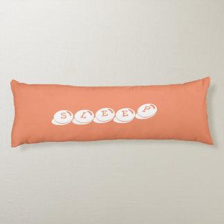 青およびオレンジ甘い睡眠の長い枕 ボディピロー