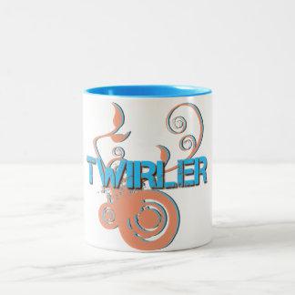 青およびオレンジTwirler ツートーンマグカップ