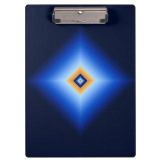 青およびタンのダイヤモンド クリップボード