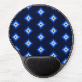 青およびタンのダイヤモンド ジェルマウスパッド