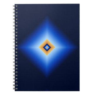 青およびタンのダイヤモンド ノートブック