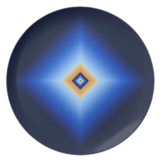 青およびタンのダイヤモンド プレート