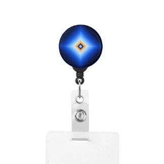 青およびタンのダイヤモンド IDカードホルダー