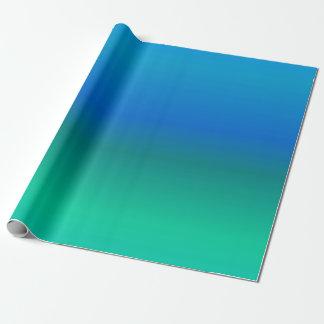 青およびティール(緑がかった色)の包装紙 ラッピングペーパー