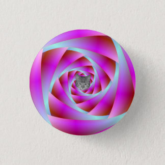青およびピンクのねじれ 3.2CM 丸型バッジ