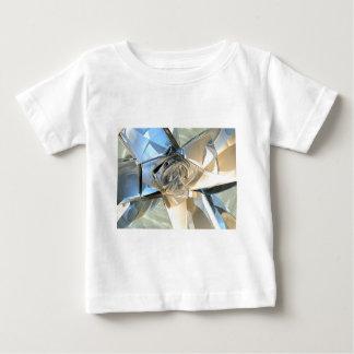青およびベージュバンド ベビーTシャツ