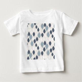 青およびベージュ抽象芸術の低下 ベビーTシャツ