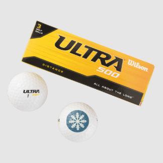 青およびホワイトクリスマスの雪片のゴルフ・ボール ゴルフボール