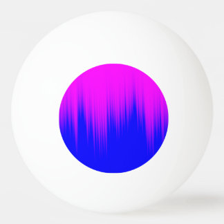 青およびマゼンタの縞パターン 卓球ボール