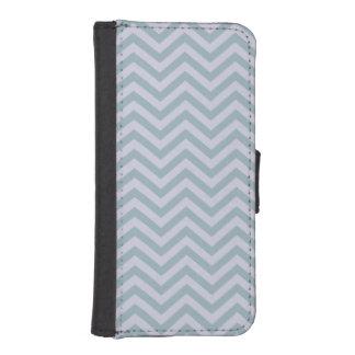 青およびラベンダーのシェブロンのiPhone 5の財布を候補にあげて下さい iPhoneSE/5/5sウォレットケース