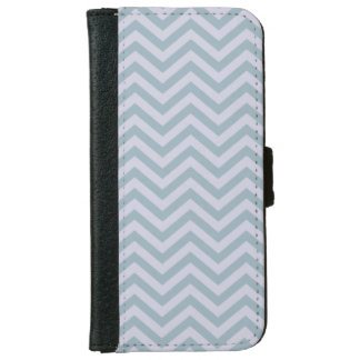 青およびラベンダーのシェブロンのiPhone 6の財布を候補にあげて下さい iPhone 6/6s ウォレットケース