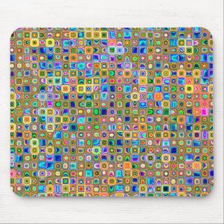 青および地球の調子の「ホタル」のタイルパターン マウスパッド