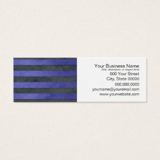 青および灰色のストライプパターン スキニー名刺