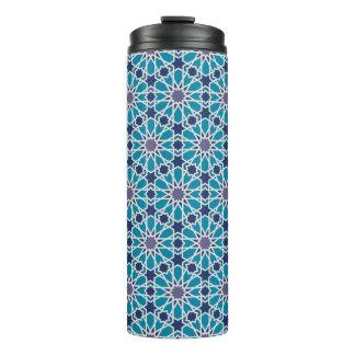 青および灰色の抽象的なパターン タンブラー