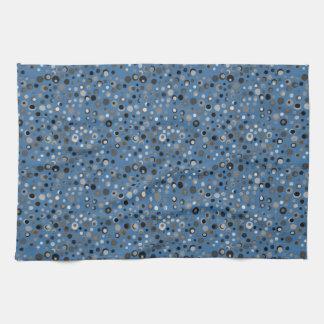 青および灰色の点 ハンドタオル