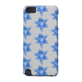 青および灰色の花パターン iPod TOUCH 5G ケース