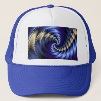 青および灰色の螺線形のフラクタル キャップ