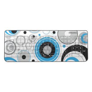青および灰色無線キーボードを一周します ワイヤレスキーボード