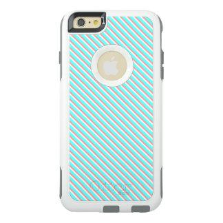 青および珊瑚は縞で飾ります オッターボックスiPhone 6/6S PLUSケース