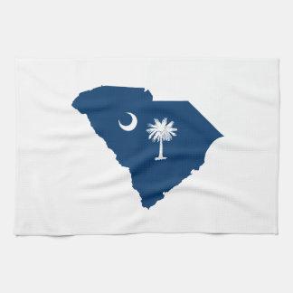 青および白いのサウスカロライナ キッチンタオル