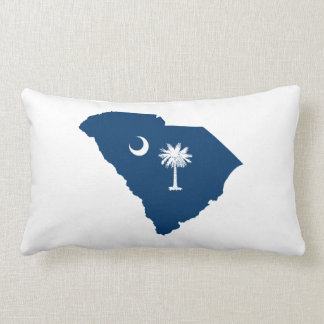 青および白いのサウスカロライナ ランバークッション