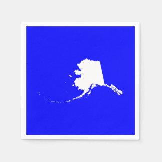 青および白いアラスカ スタンダードカクテルナプキン