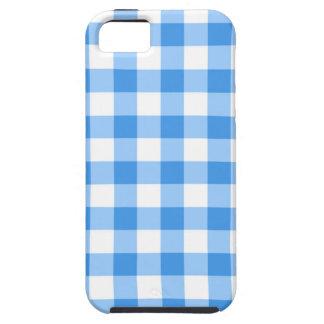 青および白いギンガムの点検パターン iPhone 5 Case-Mate ケース