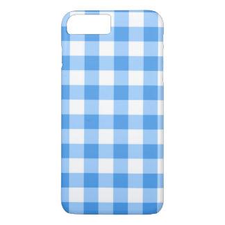 青および白いギンガムの点検パターン iPhone 8 PLUS/7 PLUSケース