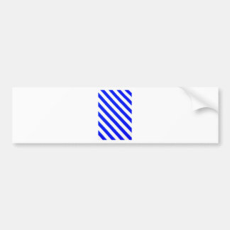 青および白いストライブ柄のデザイン バンパーステッカー