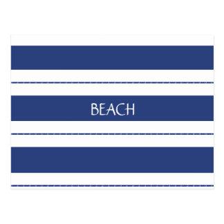青および白いストライプの ポストカード