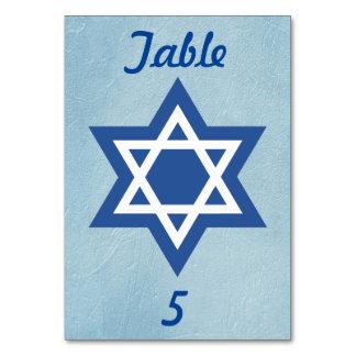 青および白いダビデの星 カード