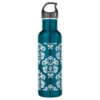 青および白いダマスク織BPAは放します ウォーターボトル