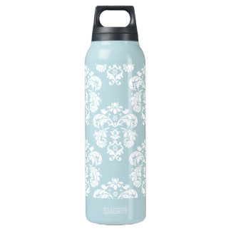 青および白いダマスク織BPAは放します 断熱ウォーターボトル