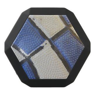 青および白いバスケットボールの抽象芸術 ブラックBluetoothスピーカー