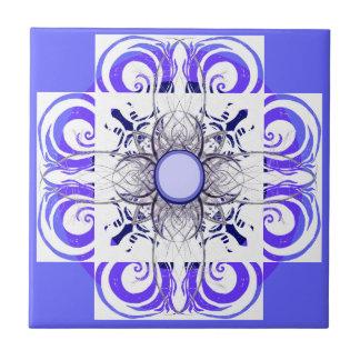 青および白いパターンタイル タイル