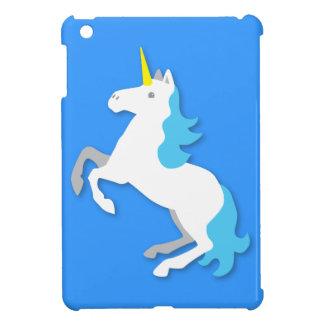 青および白いユニコーン iPad MINIケース