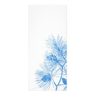 青および白い冬のマツ棚カードテンプレート ラックカード