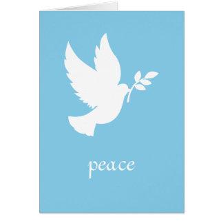 青および白い平和鳩 カード