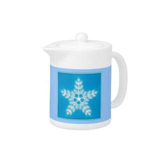 青および白い星の雪片