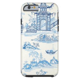 青および白い東洋のデザインのiPhone6ケース ケース