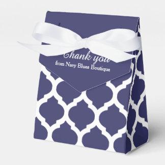 青および白い格子垣パターンはギフト用の箱感謝していしています フェイバーボックス