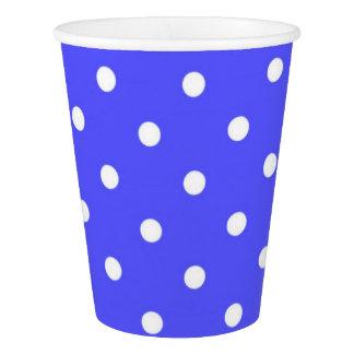 青および白い水玉模様のモダンの魅力 紙コップ