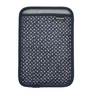 青および白い水玉模様のiPad Miniスリーブ iPad Miniスリーブ