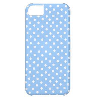 青および白い水玉模様パターン iPhone5Cケース
