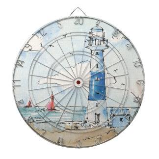 青および白い灯台 ダーツボード
