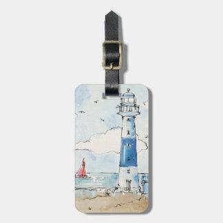 青および白い灯台 ラゲッジタグ