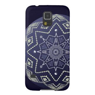 青および白い球の曼荼羅の電話箱 GALAXY S5 ケース