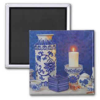 青および白い磁石 マグネット