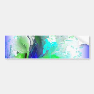 青および白い花 バンパーステッカー