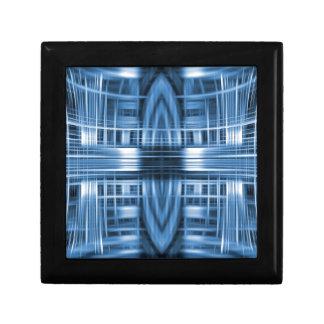 青および白い速度の汚点パターン ギフトボックス
